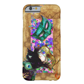MARDI GRAS MASQUERADE parchment confetti Barely There iPhone 6 Case