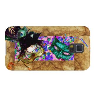 MARDI GRAS MASQUERADE parchment confetti Samsung Galaxy Nexus Covers