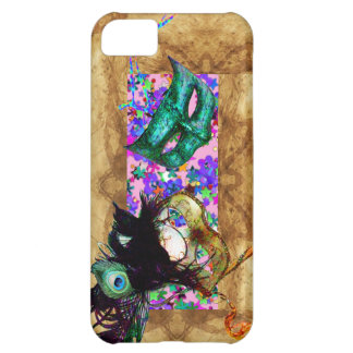 MARDI GRAS MASQUERADE parchment confetti Cover For iPhone 5C