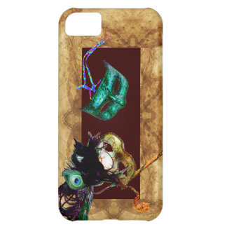 MARDI GRAS MASQUERADE parchment Cover For iPhone 5C