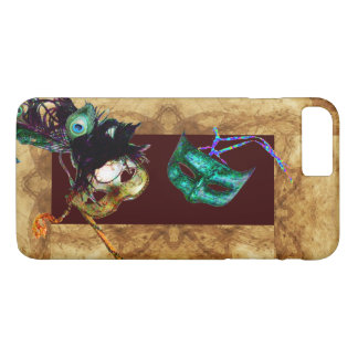 MARDI GRAS MASQUERADE parchment iPhone 7 Plus Case