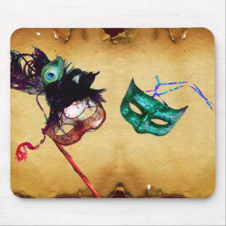 MARDI GRAS MASQUERADE parchment Mouse Pad