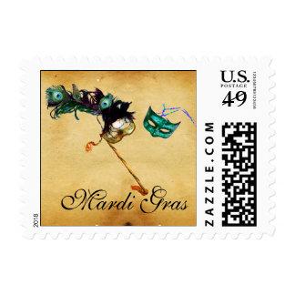 MARDI GRAS MASQUERADE parchment Postage
