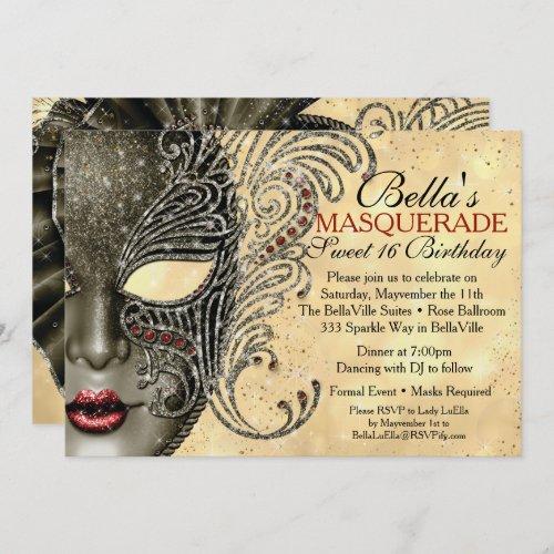 Mardi Gras Masquerade Party Invitations