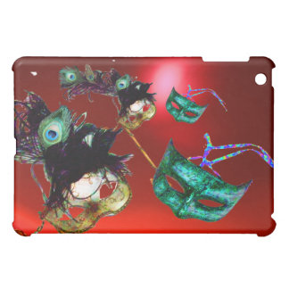 MARDI GRAS MASQUERADE PARTY red iPad Mini Cases