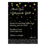 Mardi Gras masquerade prom bid admission ticket Business Card Template