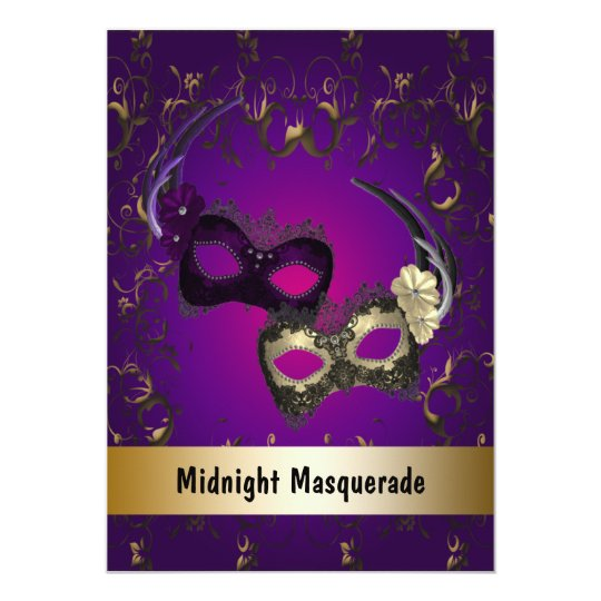 Mardi Gras Masquerade Prom Invitations