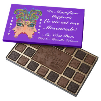 Mardi Gras Masquerade Read About Design Below 45 Piece Assorted Chocolate Box