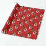 MARDI GRAS MASQUERADE red Gift Wrap Paper