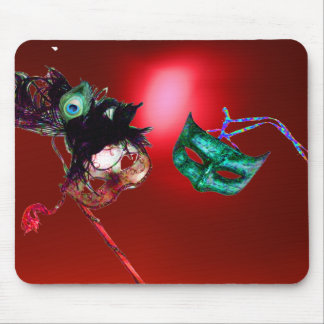 MARDI GRAS MASQUERADE red Mouse Pad