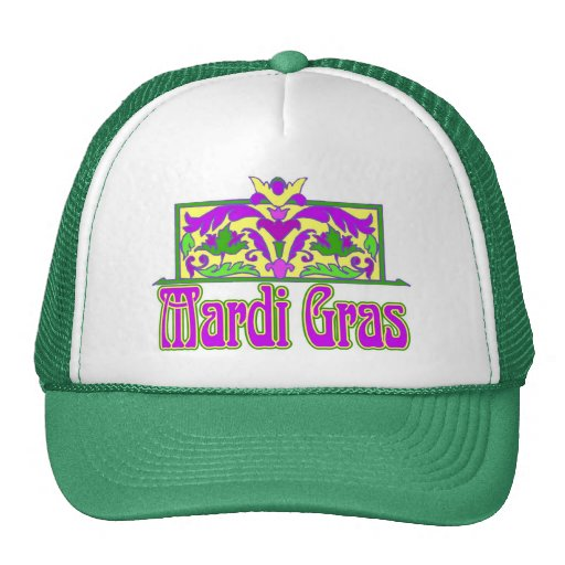 Mardi gras mesh hats