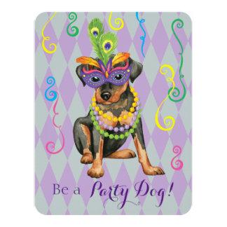 Mardi Gras Min Pin Card