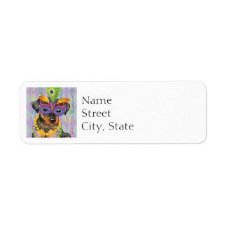 Mardi Gras Min Pin Label
