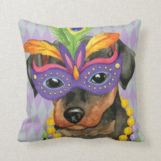Mardi Gras Min Pin Throw Pillow