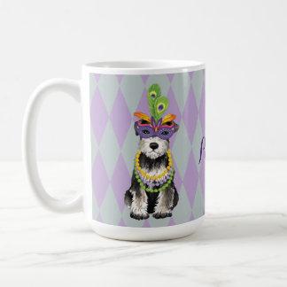 Mardi Gras Mini Schnauzer Coffee Mug
