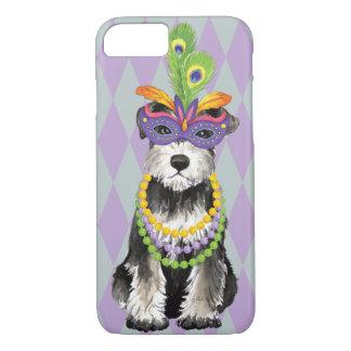 Mardi Gras Mini Schnauzer iPhone 8/7 Case