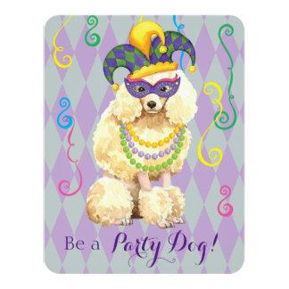Mardi Gras Miniature Poodle Card
