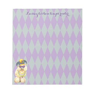 Mardi Gras Miniature Poodle Notepad