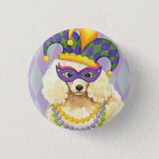 Mardi Gras Miniature Poodle Pinback Button