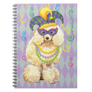 Mardi Gras Miniature Poodle Spiral Notebook