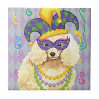 Mardi Gras Miniature Poodle Tile