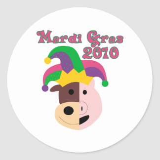 Mardi Gras Moink t-shirts and gifts. Classic Round Sticker