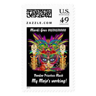 Mardi Gras Mojo Priestess Postage Stamps