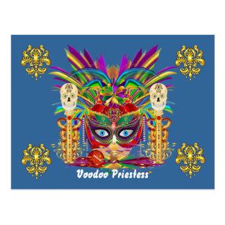 Mardi Gras Mojo Priestess View Notes Please Postcard