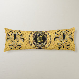 Mardi Gras Monogram L IMPORTANT Read About Design Body Pillow