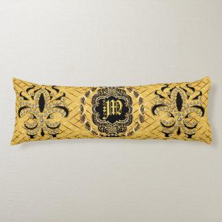Mardi Gras Monogram M IMPORTANT Read About Design Body Pillow