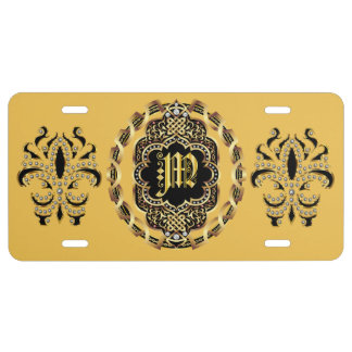 Mardi Gras Monogram M IMPORTANT Read About Design License Plate