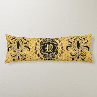 Mardi Gras Monogram N IMPORTANT Read About Design Body Pillow