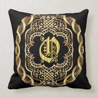 Mardi Gras Monogram O IMPORTANT Read About Design Throw Pillow