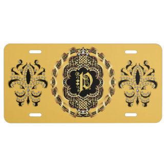 Mardi Gras Monogram P IMPORTANT Read About Design License Plate