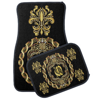 Mardi Gras Monogram Q IMPORTANT Read About Design Car Floor Mat
