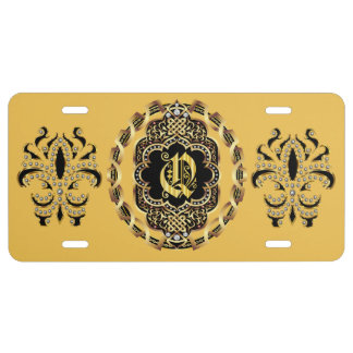 Mardi Gras Monogram Q IMPORTANT Read About Design License Plate