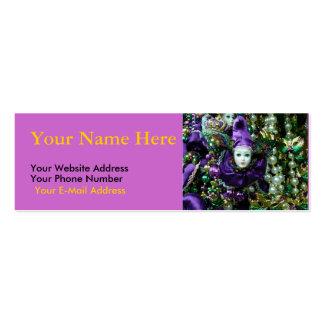 Mardi Gras Motif Slim Cards Business Card