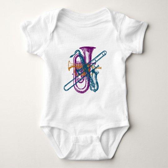 Mardi Gras Music Baby Bodysuit