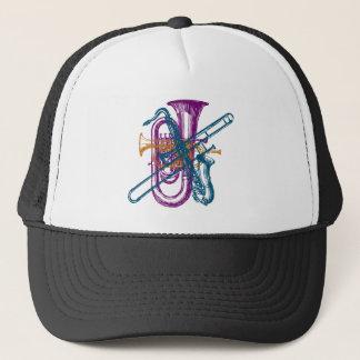 Mardi Gras Music Trucker Hat
