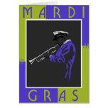 Mardi Gras Musician Card
