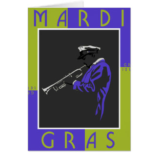 Mardi Gras Musician Greeting Card