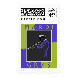 Mardi Gras Musician Postage
