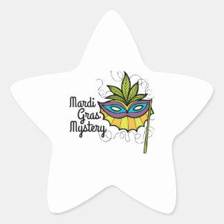 Mardi Gras Mystery Star Sticker