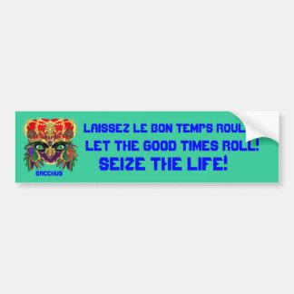 Mardi Gras Mythology Bacchus View Hints Please Bumper Sticker
