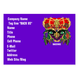 Mardi Gras Mythology Bacchus View Hints Please Business Card