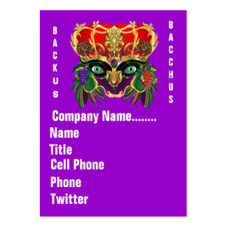 Mardi Gras Mythology Bacchus View Hints Please Large Business Cards (Pack Of 100)