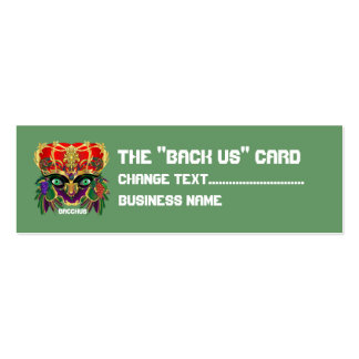 Mardi Gras Mythology Bacchus View Hints Please Double-Sided Mini Business Cards (Pack Of 20)