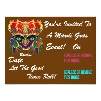 Mardi Gras Mythology Bacchus View Hints Please Card