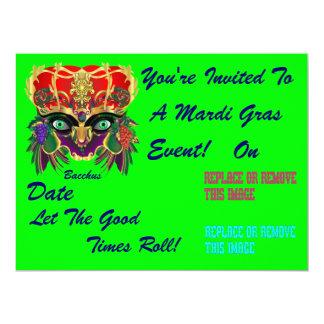 Mardi Gras Mythology Bacchus View Hints Please Card