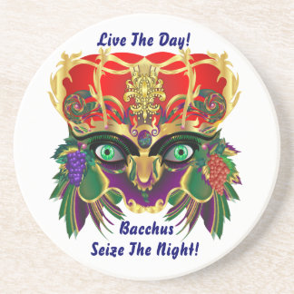 Mardi Gras Mythology Bacchus View Hints Please Drink Coaster